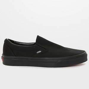 Vans Classic Slip On Black Monochromatic Shoes